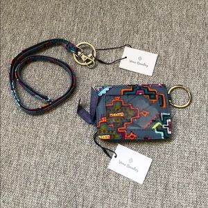NEW Vera Bradley Lanyard Set in Painted Medallions